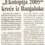 """""""Ekotopia 2005"""" krece iz Banjaluke"""